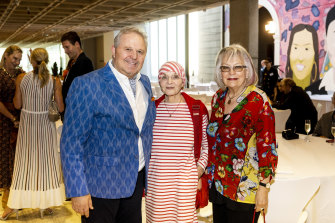 Tim Olsen, Margaret Fink and Dr Meredith Burgmann at the Art Gallery of NSW.
