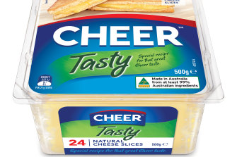 New packets of Cheer cheese, formerly Coon.