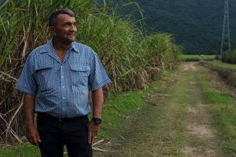 Len Parisi on his property near Cairns.