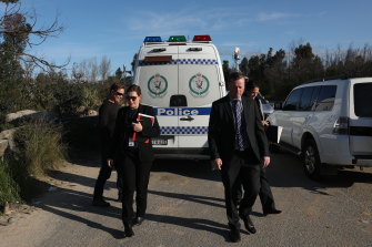 A crime scene has been established in bushland near Sandy Point Quarry after a woman's body was found.