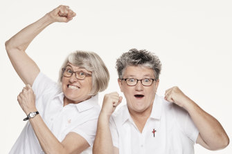 Catholic nuns Judy Bowe and Therese Mills compete in Ten's Amazing Race Australia.