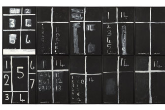 A major piece: Colin McCahon Teaching aids 2 (July) from the series Teaching aids 1975,© Estate of Colin McCahon