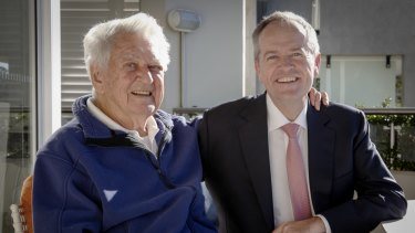 Bob Hawke and Bill Shorten pictured recently in Sydney.