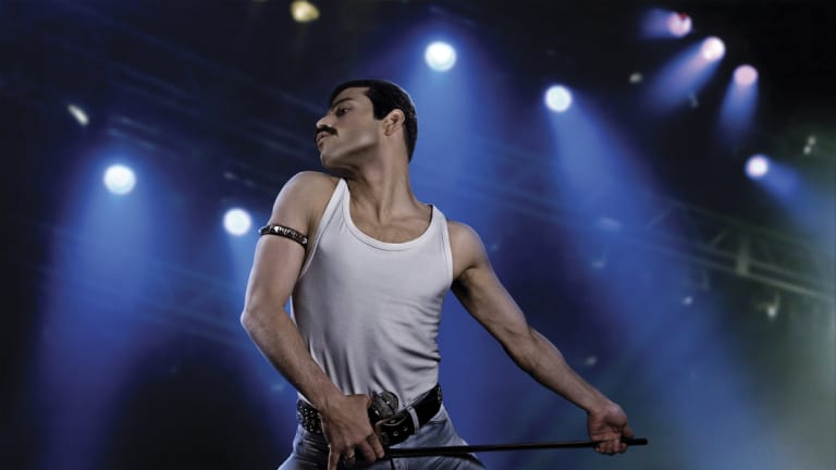 Rami Malek as the rock icon Freddie Mercury in Bohemian Rhapsody.