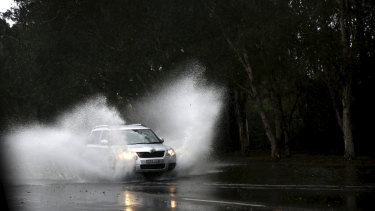 The weather bureau warned the rain could create hazardous road conditions and flash flooding, but conditions eased after midday.