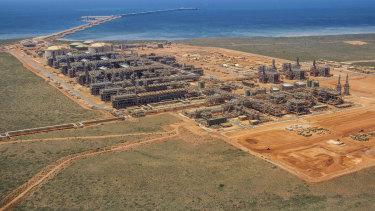 The Chevron-operated Gorgon Project off WA's coast.