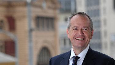 Labor leader Bill Shorten in Melbourne on Sunday.