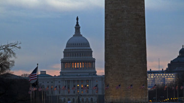 The US Capitol is seen early in the morning in Washington on Tuesday.