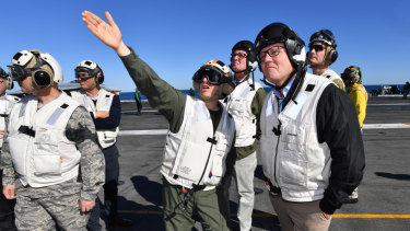 """Australia and the United States see the world through the same eyes,"" the Prime Minister told the crew."