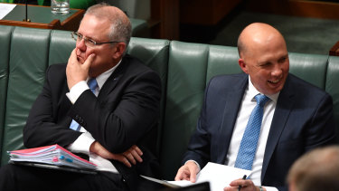 Is Australian politics broken? Scott Morrison and Peter Dutton in Parliament this week.