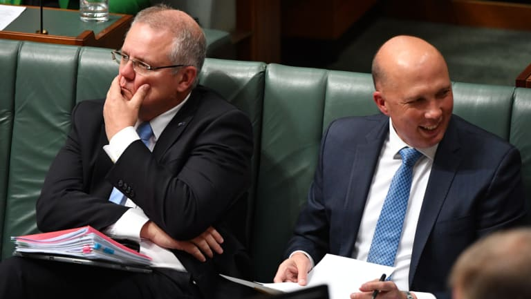 Is Australian politics broken? Scott Morrison and Peter Dutton in Parliament this week.