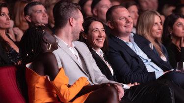 Adut Akech Bior, Toni Maticevski and Edwina McCann.