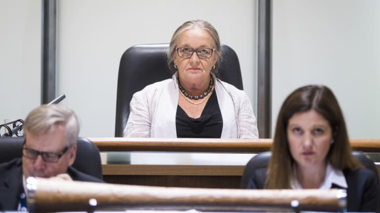 Speaker Joy Burch during the ACT Legislative Assembly's Question Time.