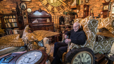 It's time: Melbourne clock collector and restorer Ken Hose's $1 million collection will go under the hammer at Leonard Joel auction house on June 25.