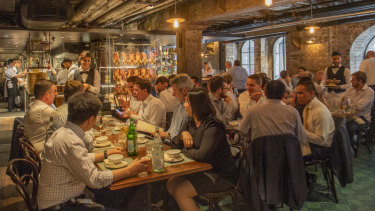 The dining room in this converted warehouse is buzzing.