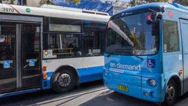 An on-demand bus in Sydney's inner west.