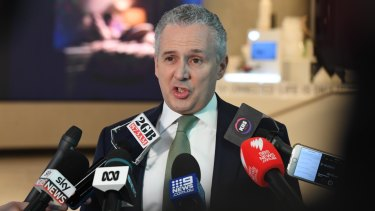 Telstra CEO Andy Penn delivers news of the company's planned job losses.