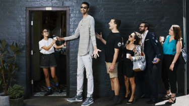 Kewal Shiels has held the mantle of tallest man in this country since the Australian Book of Records was first printed in 2017.