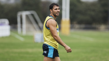 Phipps at Waratahs training on Friday ahead of a must-win clash with the Brumbies.