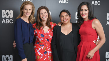 Rachel Griffiths, Jane Hall, Deborah Mailman and Del Irani at the ABC Upfronts.