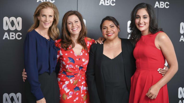 Rachel Griffiths, Jane Hall, Deborah Mailman and Del Irani at the ABC Upfronts.