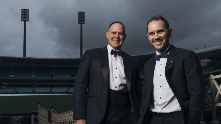 Fire up: Opening great Matthew Hayden (left) wants his former partner's Australia side to play tough.