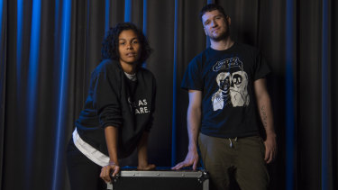 <i>Wake in Fright</i> star Zahra Newman and director Declan Greene.