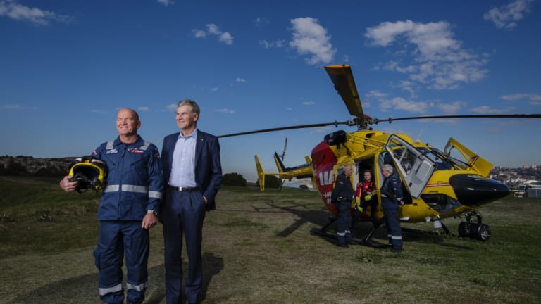 Peter Butler, with his rescuer Tony LeMarseny. The two men have remained friends.