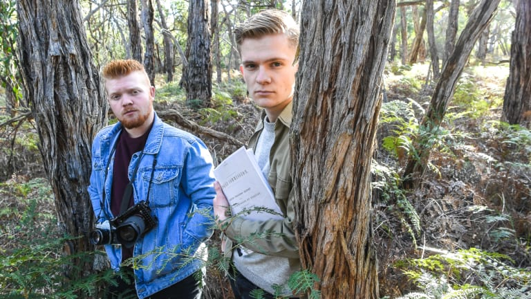 Ben Head, a film and TV student, with camerman Ben Thompson.