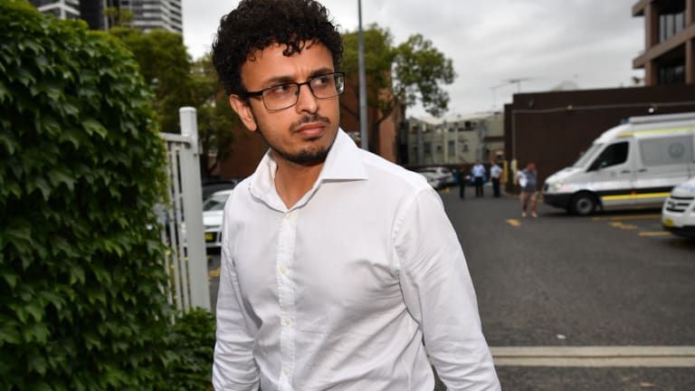 Arsalan Khawaja leaves Parramatta Police Station after being granted bail on Tuesday.