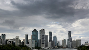 Storms swept through Brisbane on Monday morning.
