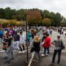 US set for record turnout as voters rush to cast early ballots