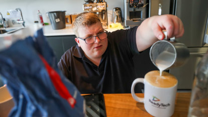 Coffee a conduit to conversation and a career for office barista Kane