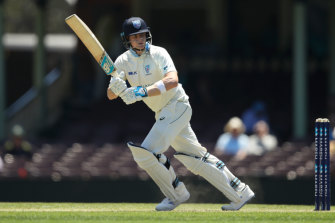 Steve Smith slowly made his way to an unbeaten 59 at the SCG.
