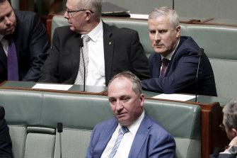 Nationals leader Michael McCormack and Barnaby Joyce.