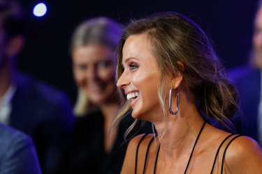 Brit Selwood is seen during the 2020 Brownlow medal count at Metricon Stadium on the Gold Coast