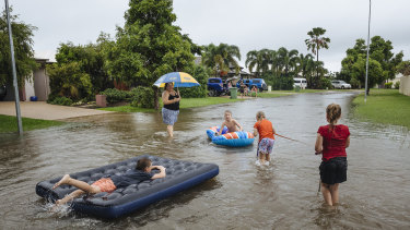 Townsville residents on Friday.