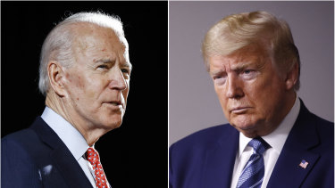 Faceoff: Former vice-president Joe Biden and  President Donald Trump.