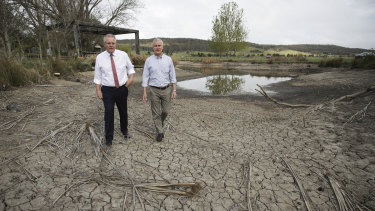 Scott Morrison and Nationals leader Michael McCormack in rural NSW last year.