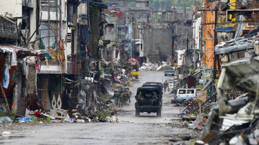The city of Marawi in southern Philippines was almost destroyed in the months-long siege.