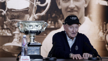 Crowded schedule: Rod Laver's own Laver Cup is among the events that may squeeze the traditional Davis Cup out over time.