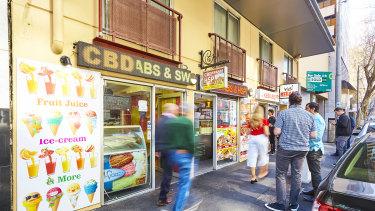 The kebab strip at 546-548 Flinders Street.