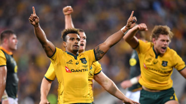 The Wallabies are happy chaps after learning they will pocket up to $125,000 if they win this year's Rugby World Cup.