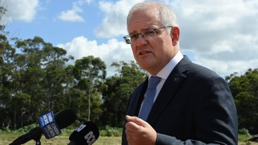 Prime Minister Scott Morrison held a press conference in Tomago, NSW, where he announced his opposition to gas drilling offshore from Sydney's northern beaches.