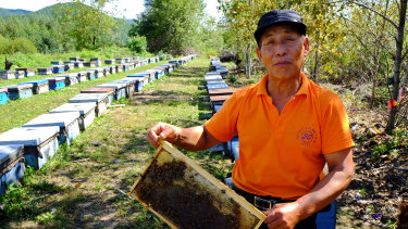 Li Chengfan, 69, has been a beekeeper for almost 50 years.