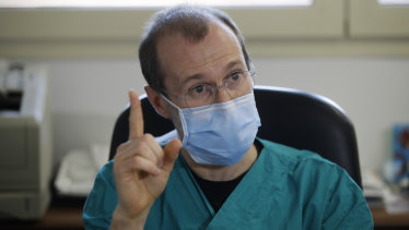 Sergio Cattaneo, head of anesthesiology at Brescia Ospedali Civili hospital, where there has been an outbreak of coronavirus.