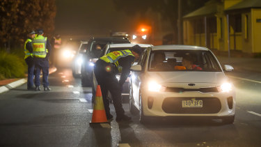 Victoria-NSW borders being patrolled when a closure was introduced in July.