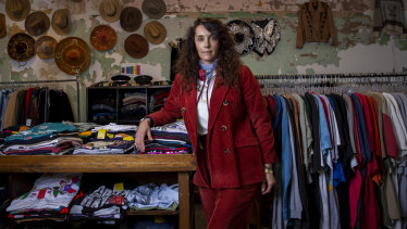 Vintage expert Ashley Tell in her Melbourne store.