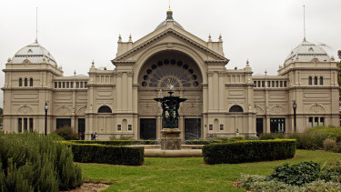 The World Heritage listed Royal Exhibition Building in Carlton Gardens.