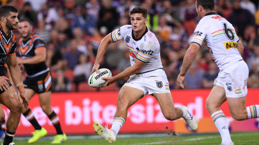 Odd couple: Nathan Cleary kept his spot despite an indifferent season with struggling Penrith.